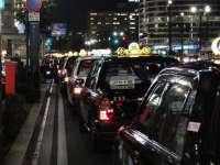 Taxi in attesa a Kioto